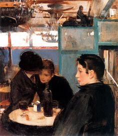 Ramon Casas i Carbó (1866-1932)-'bal au moulin de la Galette'-oil on canvas-(1890-1891)