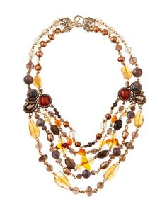 Multi-Stone Multi-Strand Necklace by Stephen Dweck at Last Call by Neiman Marcus.