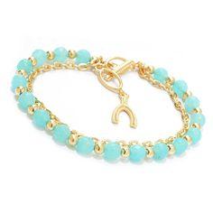 Antalia™ Turkish Jewelry 18K Gold Embraced™ Gem Adjustable Toggle Bracelet evine.com