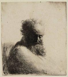 Mijn favoriete Rembrandt in Teylers Museum: Oude man, de blik naar beneden gericht (B260)