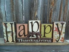 Happy Thanksgiving. I have to metion that these blocks are really cute.