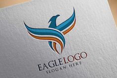 Eagle Fly Logo Template on @creativework247                                                                                                                                                      More
