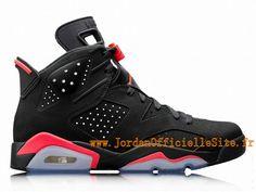 new style 7b3e2 d51e1 Chaussures Baskets Nike Jordan Pas Cher Pour Homme Air Jordan 6 VI Retro  2014 Black Infrared 384664-023