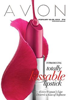 Introducing Totally Kissable Lipstick. Super Soft, Very Smooth, and Totally Kissable. Visit http://www.avon.com.ph/PRSuite/pr_ebrochure.page for our latest brochure!