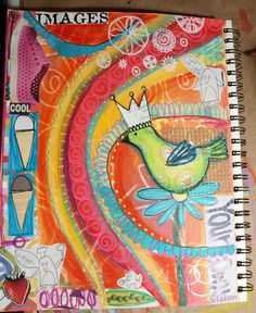 Art Journal Page by Dori Patrick/Dreaming Bear Designs