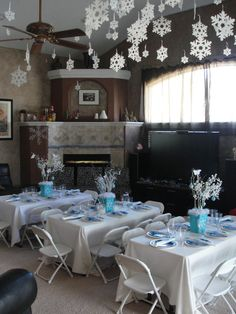 """Photo 1 of 19: Winter Wonderland Snowflake Princess Party / Birthday """"Finley's 6th Birthday """"   Catch My Party"""
