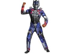 Transformers Optimus Muscle Jumpsuit  & Mask Outfit NEW Sz M #Marvel #CompleteOutfit