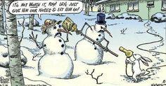 Funny Snowman Cartoon Joke - Best Funny Jokes and Hilarious Pics Funny Christmas Cartoons, Christmas Comics, Funny Christmas Pictures, Christmas Jokes, Funny Christmas Cards, Funny Cartoons, Funny Comics, Funny Jokes, Hilarious
