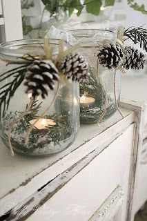 Party Frosting: Winter party ideas: pinecones