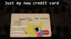 new credit card, funny pictures