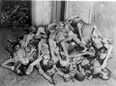 Buchenwald, Germany, April 1945, A pile of corpses. The liberators could smell the 'death and decay' 5 miles from the camp. They had no idea what it was till they arrived.
