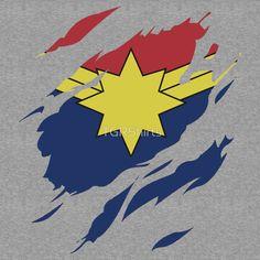 Secret Identity: Captain Marvel by TGRShirts