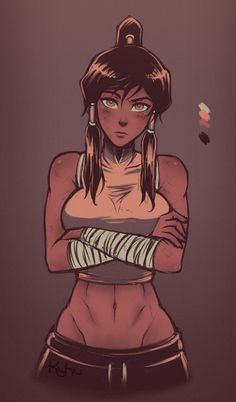 post-spar korra by KYHUart.deviantart.com on @deviantART - More at https://pinterest.com/supergirlsart/ #legendofkorra #korra #fanart #avatar