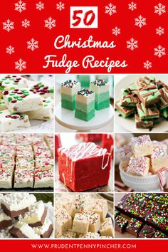 Are you looking for an easy, cheap and delicious Christmas dessert? Then, try these fudge recipes. They make an easy gift or festive treat for the holidays! Christmas Fudge, Christmas Dishes, Christmas Sweets, Christmas Cooking, Christmas Candy, Christmas Foods, Outdoor Christmas, Christmas Decorations, Fudge Recipes