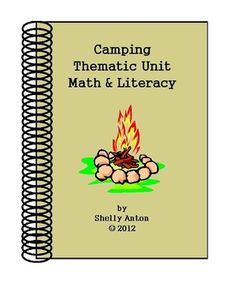 """This 50 page ebook is full of first grade worksheets for math and reading for a wonderful camping thematic unit based on the Common Core essential skills. The unit begins with an original camping story sung to the tune, """"Farmer in the Dell."""" Your students will love this great start to a fun unit!"""