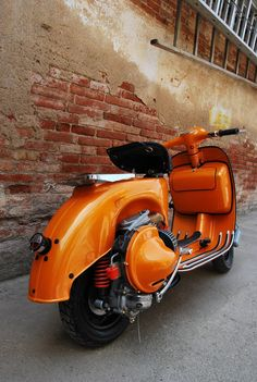 Vespa customized in the right way.