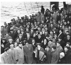 "These Hungarian refugees were part of the U.S. Navy's ""sea lift,"" which helped Hungarians fleeing their homeland after the 1956 Soviet military crackdown."