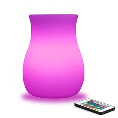 MrGo 6inch RGB Colorchanging LED Glowing Vase w Remote Dimmable LED Flower Pot Lamp Rechargeable Night Light Mood Lighting Kids Bedroom Living Dinning Room Bar Table Party Decoration  White *** Read more  at the image link. Note:It is Affiliate Link to Amazon.