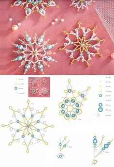 Seed Bead Patterns, Beaded Jewelry Patterns, Beading Patterns, Beaded Christmas Ornaments, Christmas Jewelry, Christmas Crafts, Xmas, Beaded Ornament Covers, Beaded Crafts