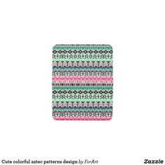 Cute colorful aztec patterns design card holder