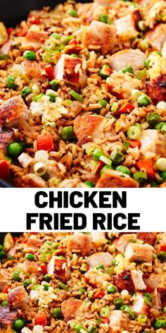 chinese meals Chicken fried rice is the comfort dish of Chinese food. This classic take on the favourite is easy to make and makes the perfect lunch or dinner. Chicken Rice Recipes, Recipe Chicken, Asian Recipes, Healthy Recipes, Arroz Frito, Le Diner, Asian Cooking, Rice Dishes, Fried Chicken