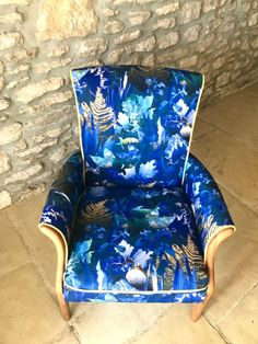 Newly reupholstered 2 PARKER KNOLL Wings Chair and