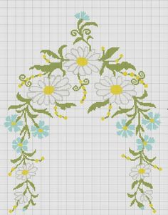 This Pin was discovered by Zey Cross Stitching, Cross Stitch Embroidery, Embroidery Patterns, Cross Stitch Patterns, Cross Stitch Flowers, Needle And Thread, Arts And Crafts, Crafty, Floral