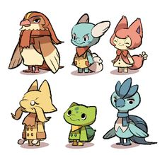 Pokemon x Animal Crossing Villagers
