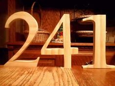 DIY unfinished numbers and letters cut sanded  by huntleyswood, $3.00