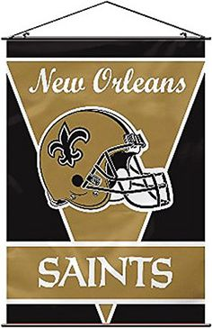 Fremont Die New Orleans Saints 28x40 Satin Polyester Wall Banner  https://allstarsportsfan.com/product/fremont-die-new-orleans-saints-28x40-satin-polyester-wall-banner/  W 28 in; H 40 in Satin polyester construction Quality imaging