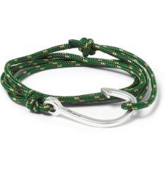Miansai - Woven-Cord and Metal Hook Wrap Bracelet|MR PORTER