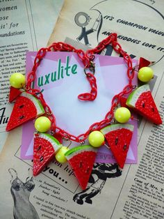 NEW Juicy Watermelons Handmade 1940s 50s vintage by Luxulite