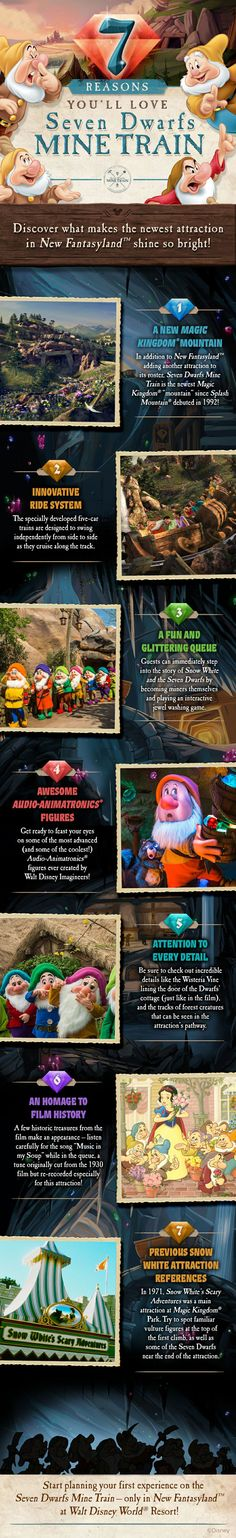 Discover what makes the newest attraction in New Fantasyland shine so bright! Here are 7 reasons you'll love Seven Dwarfs Mine Train!