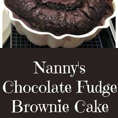 Nanny's Chocolate Fudge Brownie Cake is a keeper recipe! Easy to make and perfect for chocolate lover's.This is also freezer friendly if y. White Pizza Recipes, Italian Recipes, Vegan Recipes, Easy Recipes, Diet Recipes, Chocolate Fudge Brownies, Brownie Cake, Chocolate Icing, Chocolate Lovers