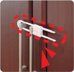 Magic young and clever onamot multifunctional u cabinet lock sliding door lock child safety lock easy lock 2