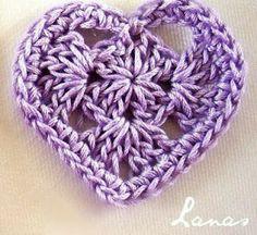 Solo esquemas y diseños de crochet: Y MAS CORAZONES