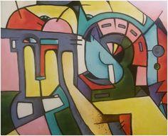 """Zátiší s kasou"", akryl 47x57 cm."