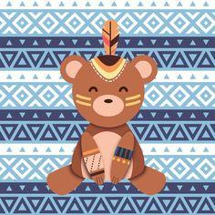 Baby Animals, Cute Animals, Kids World Map, Tribal Animals, Baby Posters, Kawaii Doodles, Kids Prints, Baby Decor, Cute Illustration