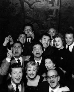 Federico Fellini, Aldo Tonti, Valentina Cortese, Franco Interlenghi, Franca Marzi, Giulietta Masina and Alberto Sordi