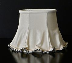 oval lampshade with fitted linen overskirt. by Lampshadesetc, $89.00