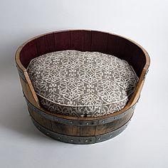 Barrel Dog Bed : Alpine Wine Design