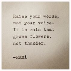 Rumi Quote Typed on Typewriter.