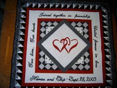 Wedding Quilt by lorysquiltedmemories on Etsy, $350.00