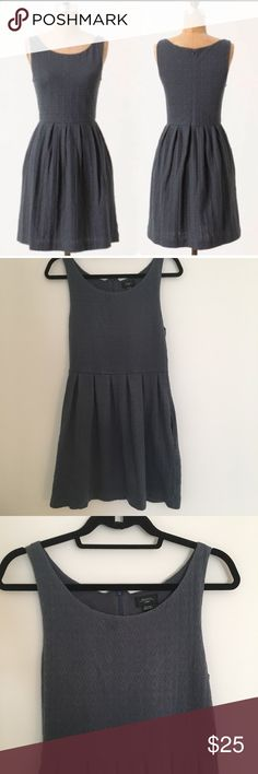 Anthropologie Deletta Torchon Ponte Gray dress Size medium. Has pockets. Good condition, a little bit of fading around the zipper on the back but still looks great! Anthropologie Dresses