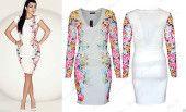 Ladies #Womens #Kourtney #Kardashian Celebrity Inspired Floral Full Sleeves #Bodycon