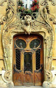 Art Nouveau Doors in France. Posted by Deborah Lutz