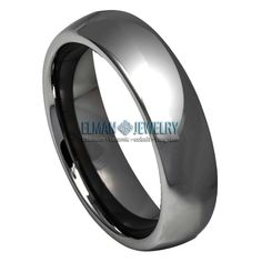 This Wedding Band Ring created from Cobalt Free Tungsten Carbide and made with Comfort Fit design. This ring is ideal as Contemporary Wedding Ring Band, Engagement Ring, Anniversary Band, Gift for His and Her or just for Everyday Wearing. It's a High Polished Shiny Dark Grey IP Plated Classic Style Domed Tungsten Band Ring. The ring width is 6 mm.    Features:  - Scratch Resistant & Lifetime Guarantee  - Same business day Free Shipping  - Hypoallergenic & Bio-compatible     Item Details… Tungsten Carbide Wedding Bands, Anniversary Bands, Wedding Ring Bands, Guns, Engagement Rings, Metal, Dark Grey, Classic Style, Free Shipping
