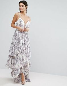 Slip into style with this elegant frill maxi dress! Ideal for any party outing.