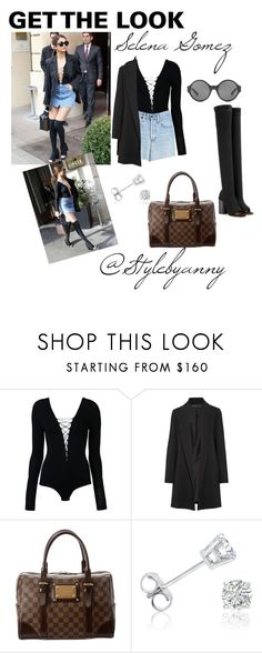 """""""GET THE LOOK: Selena Gomez"""" by anny24 ❤ liked on Polyvore featuring T By Alexander Wang, The Row, Louis Vuitton and Amanda Rose Collection"""