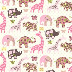 Ana's Zoo Fabric by the Yard | Carousel Designs  Goes great with the PBK Katie bedding